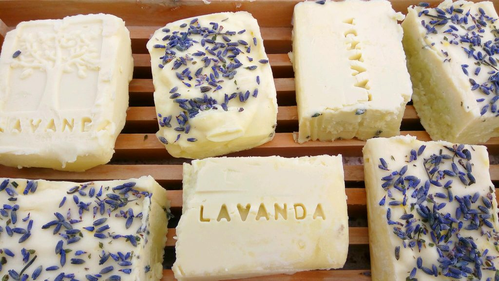 making your own lavender soap