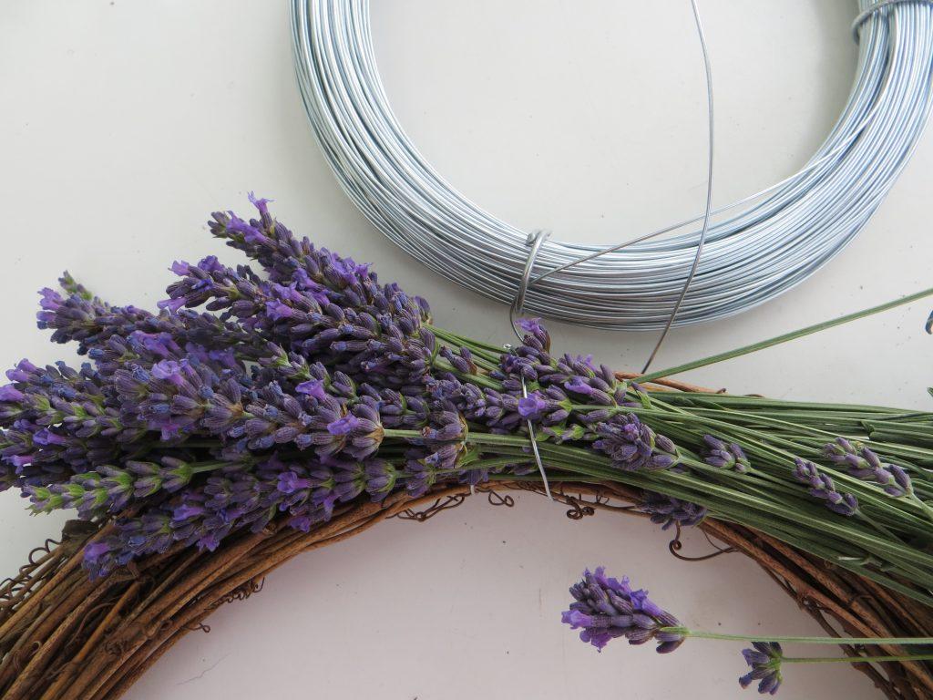 step 1 lavender wreath