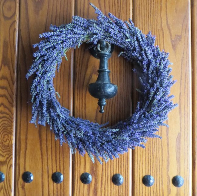 lavender wreath on our front door