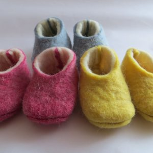 felted babyslippers - essential.blue